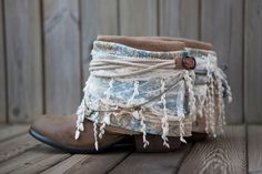 Gorgeously boho chic 'Sea Layer' boots by Layer Boots.