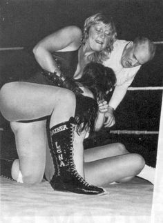 British wrestler Lena Blair (Barbara Swann) aka Leather Lena
