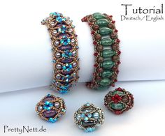 Beading Pattern 2 in 1 Beading Tutorial bracelet beaded
