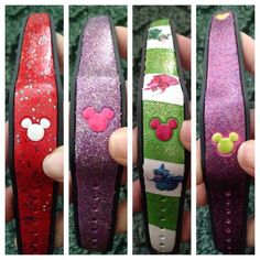 Disney Craft - DIY decorated Magic Bands for your Disney World Vacation!