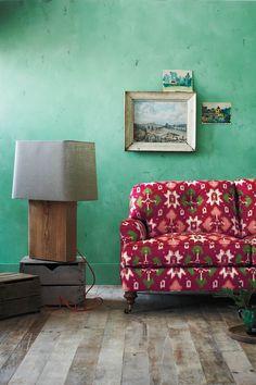 Winifred Settee, Bougainvillea - Anthropologie.com  print sofa