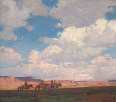 Western, EDGAR ALWIN PAYNE (American, 1883-1947). Navajo Country. Oilon canvas. 33 x 37 inches (83.8 x 94.0 cm). Signed lower ri...(Total: 1 Items) Image #1