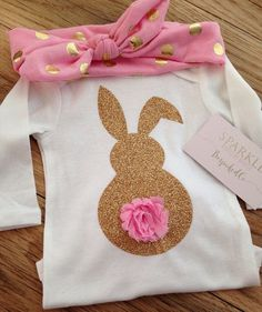 Easter bunny shirt Baby girls easter outfit Easter by BespokedCo