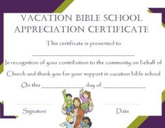 vbs certificate templates - Vbs Certificate Template