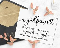 Mom Quotes From Daughter Discover A Godparent Is A Gift Card For Godparents Printable Will You Be My Godparents Card Christening Card Baptism Card Asking Godparents Card Baptism Cards, Christening Card, Christening Cupcakes, Christening Invitations, Baptism Gifts, Asking Godparents, Godchild, Godmother Gifts, Fairy Godmother