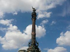 Visite Monument a Colom in Barcelona, Cataluña. Fue muy alto. Fue construido por Christovolo Colon.