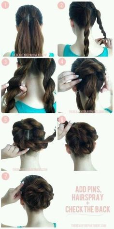Gevlochten knot #DIY #hairstyles
