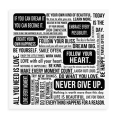 Quote Mix Wall Art In White - Wall art will add an encouraging statement to any wall reminding you to believe in yourself and your dreams. Positive Quotes, Motivational Quotes, Inspirational Quotes, Quotable Quotes, Random Quotes, Positive Attitude, Cool Words, Wise Words, White Wall Art