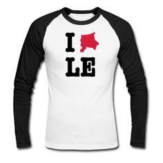 I Love LE / Leipzig Baseball Shirt - http://iloveberlin.spreadshirt.de/i-love-leipzig-college-shirt-A22186369