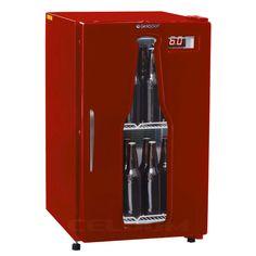 CELDOM : Refrigeradores Especiais Cervejeiras Cervejeira 112L Retro Vermelha