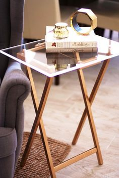 Lucite Tray Table DIY
