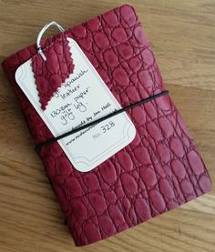 Golf Score Cards, Leather golf log, Fathers Day Gift, Golfing log, leather golf book, golf gift, personalised golf gift  Record your golfing prowess!  This is a soft red leather with an alligator or Croc finish lined with a red check paper. Hand Stitched with red/black cotton thread, I think it is the perfect companion to any golfer and would make a great gift.  A golf journal is indispensable to beginners and pros alike!! Over 40 double spread pages to help record the course details and all…