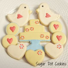 Sugar Dot Cookies: Engagement Party Love Bird Sugar Cookies with Royal ...