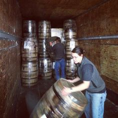 @Four Peaks Brewing Company | Rolling out the barrels! We just received a shipment of Four Roses barrels to use in aging some of our beers, including Sirius Black!