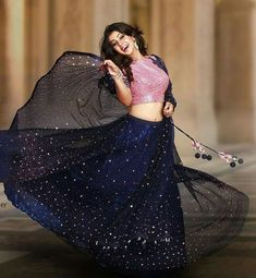 nikki galrani in pranaah Lehenga Choli Designs, Half Saree Designs, Blouse Designs, Indian Attire, Indian Wear, Hindu Girl, Indian Dresses, Indian Outfits, Indian Clothes