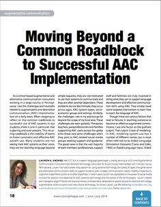 Moving Beyond a Common Roadblock to Successful AAC Implementation - Closing the Gap Solutions