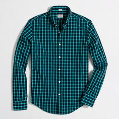 J.Crew Factory - Factory slim washed shirt in open tattersall