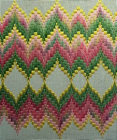 Awesome Most Popular Embroidery Patterns Ideas. Most Popular Embroidery Patterns Ideas. Broderie Bargello, Bargello Needlepoint, Bargello Quilts, Needlepoint Stitches, Needlework, Bargello Patterns, Crochet Stitches Patterns, Embroidery Patterns, Cross Stitch Designs