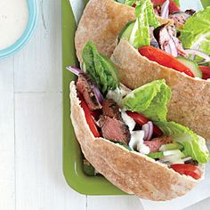 Greek-Seasoned Steak Sandwiches | MyRecipes.com