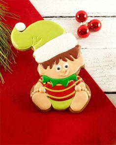 Baby Elf Cookies for Christmas