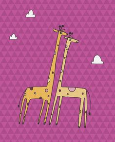Giraffe  Art Print by ArtByKellie on Etsy