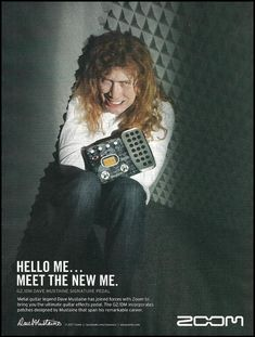 Megadeth Dave Mustaine Signature Zoom guitar effects pedal 8 x 11 ad Nick Menza, Marty Friedman, David Ellefson, Metal Horns, Dave Mustaine, Best Guitarist, Bad Photos, Joan Jett, Guitar Effects Pedals