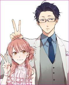 Anime/manga: wotakoi: love is hard for an otaku Otaku Anime, Manga Anime, Fanarts Anime, Anime Guys, Anime Characters, Manga Couple, Anime Love Couple, Cute Anime Couples, Kawaii Anime
