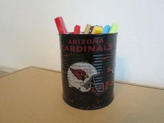 ARIZONA CARDINALS Recycled Can Holder by KreationsGalore on Etsy