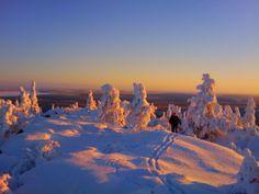 hirvipirtit lapland cabins, Taivalkoski Finland, snowshoeing on Pyhitys fjell