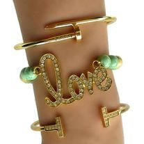 "Pave Gold ""LOVE"" Arm Candy Set"