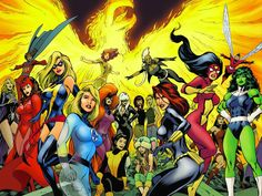 An assortment of visuals: this is the poster for Women Of Marvel: Celebrating Seven Decades (the image was split in two for the normal cover and variant cover to the comic book of the same name), drawn by Alan Davis. I like the fact that Alan can...