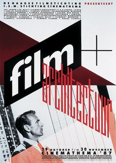 Film and Architecture. Poster for a festival at the Filmhuis Den Haag, 1987.
