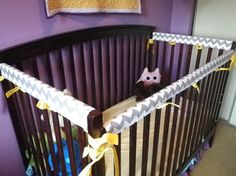 Custom Made Crib Rail Guard Set - Protect the crib from those little teeth! Little Man, Little Ones, Loki, Thor, Crib Rail Guard, Nursery Organization, Girl Rooms, Baby Fever, Baby Things