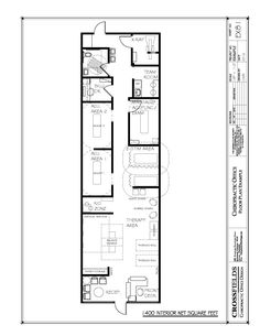Example Floor Plan with Semi Open Adjusting Open Therapy