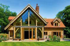 Contemporary oak frame home