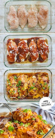 SO MUCH FLAVOR! This Mesquite Chicken Bake Recipe is quick and easy to make for a fast dinner idea and packed with flavor. Tender chicken breast is seasoned with mesquite seasoning, then smothered in BBQ sauce and finished with cheddar cheese and bacon. This easy chicken dinner is on repeat because it is so fast, easy and delicious! Easy Baked Chicken, Baked Chicken Recipes, Duck Recipes, Easy Family Meals, Easy Meals, On Repeat, Food For A Crowd, Meals For The Week