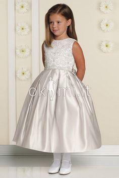 17a2d55a977b grande immagine 1 Abito da Cerimonia Bambini con Increspato Puffy Naturale  Alta Coperta Vestiti Corti A