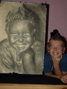 charcoal drawing - my son