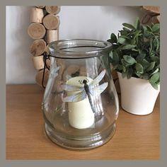 Large dragonfly glass lantern