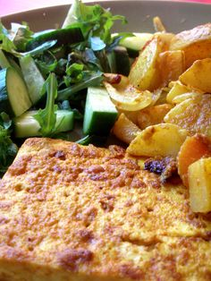 Curry-roasted tofu and vegetables