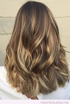 Wonderful light brunette balayage highlights
