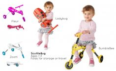 The Scuttlebug is light weight & compact - even your toddler can carry it Ride On Toys, Ladybug, Kids Toys, Clever, Children, Compact, Fun, Childhood Toys, Fin Fun