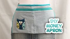 **Click for more fun.....** Learn how to make a money apron for your upcoming craft fair or yard sale. I used an upcycled pair of pants, but you can use any ...