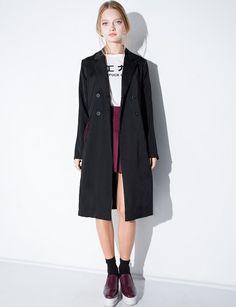 Chic Black Long Blazer Jacket