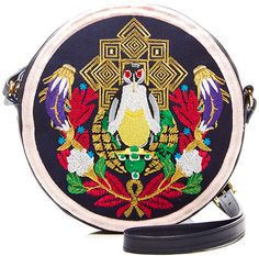 Mary Katrantzou Embroidered Leather Shoulder Bag