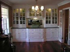Built- in china cabinet