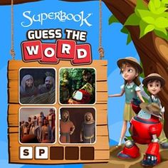 CBN's Superbook Kids website is a safe place for your kids to play free and fun online animated kids games, interactive learning games, Bible games, and learn more about the Bible, while growing in their faith! Play More Games, Learning Games For Kids, Guess The Word, Bible Games, Interactive Learning, Have Some Fun, Animation, Words, Pictures