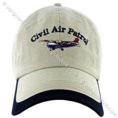 96fe3cca7bb Civil Air Patrol  Ball Cap Khaki with Cessna Civil Air Patrol