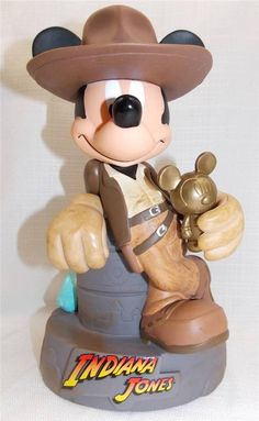 US $31.95 New in Collectibles, Disneyana, Contemporary (1968-Now) You are bidding on a Disney Theme Park Indiana Jones Mickey Plastic Coin Piggy Bank New Comes brand new and un used Measures about 8 inches tall