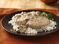 Slow-Cooker Pork Chops#Chops #Pork #slowcooker#chopsChops #Pork #slowcooker Crock Pot Slow Cooker, Crock Pot Cooking, Slow Cooker Recipes, Crockpot Recipes, Cooking Recipes, Crockpot Dishes, Pork Dishes, Pork Chops And Rice, Creamy Mushroom Soup